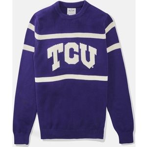 Hillflint TCU Horned Frogs purple variety sweater